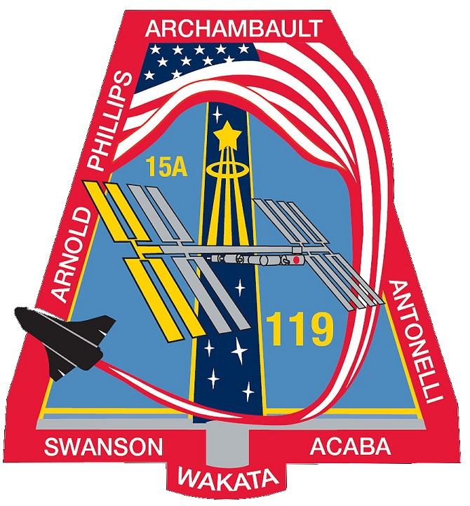 Animation assemblage ISS Sts-119-patch