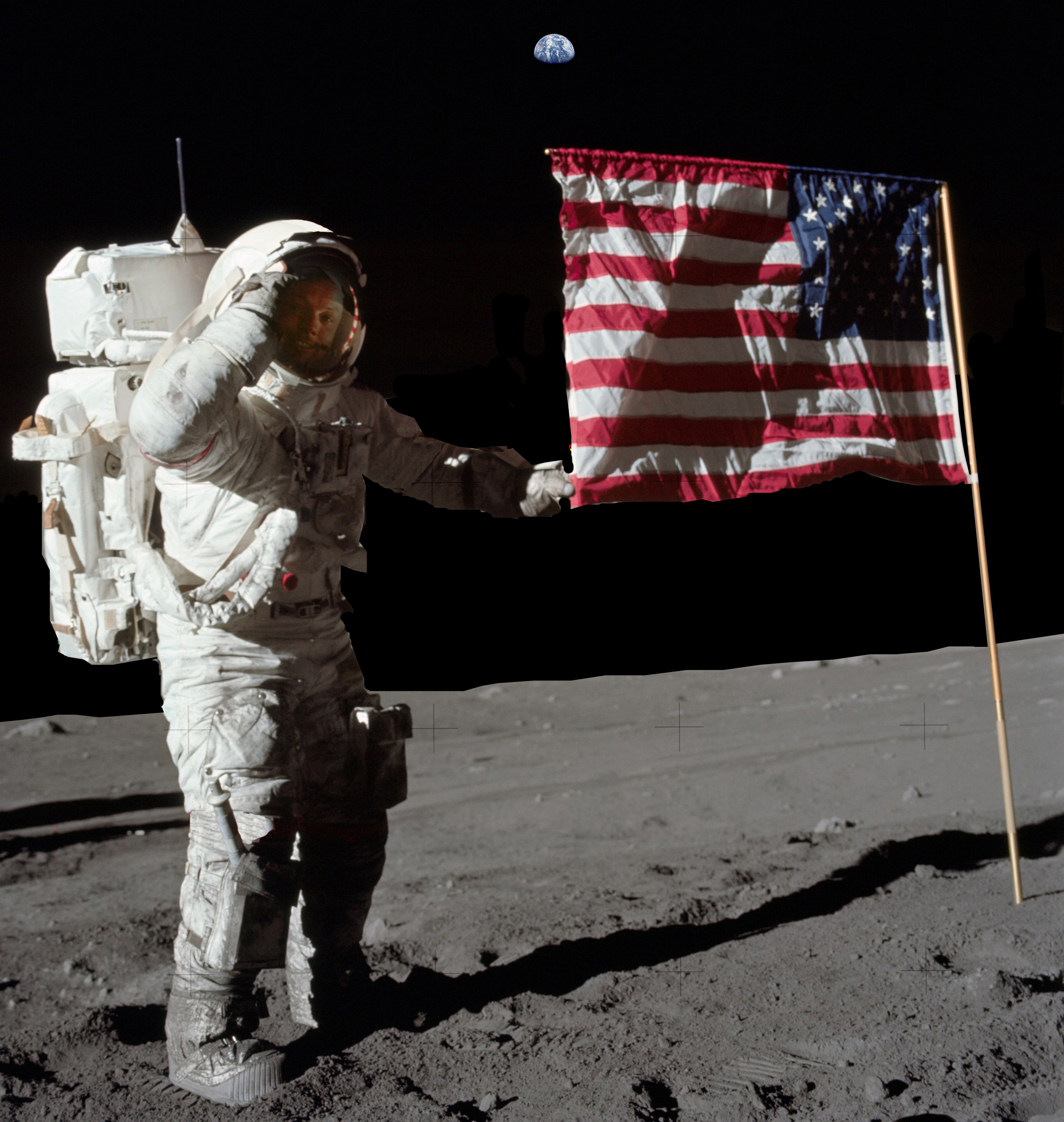 neil armstrong first astronaut on the moon - photo #18