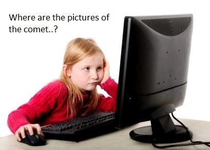 girl looking at computer monitor