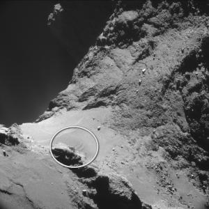 ESA_Rosetta_NAVCAM_141018_D circle
