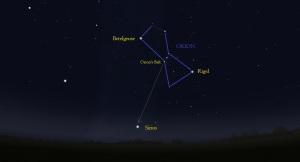 2c Orion lines surroundings