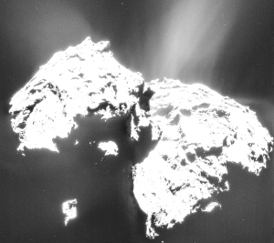 Comet_on_12_January_2015_NavCam enh
