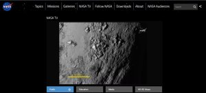 Pluto close up 1 NASA TV