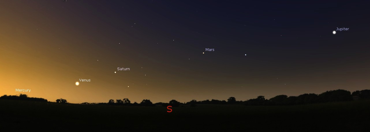 planets on parade before dawn cumbrian sky