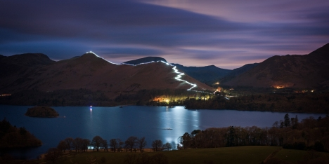 catbells keswick festival of light