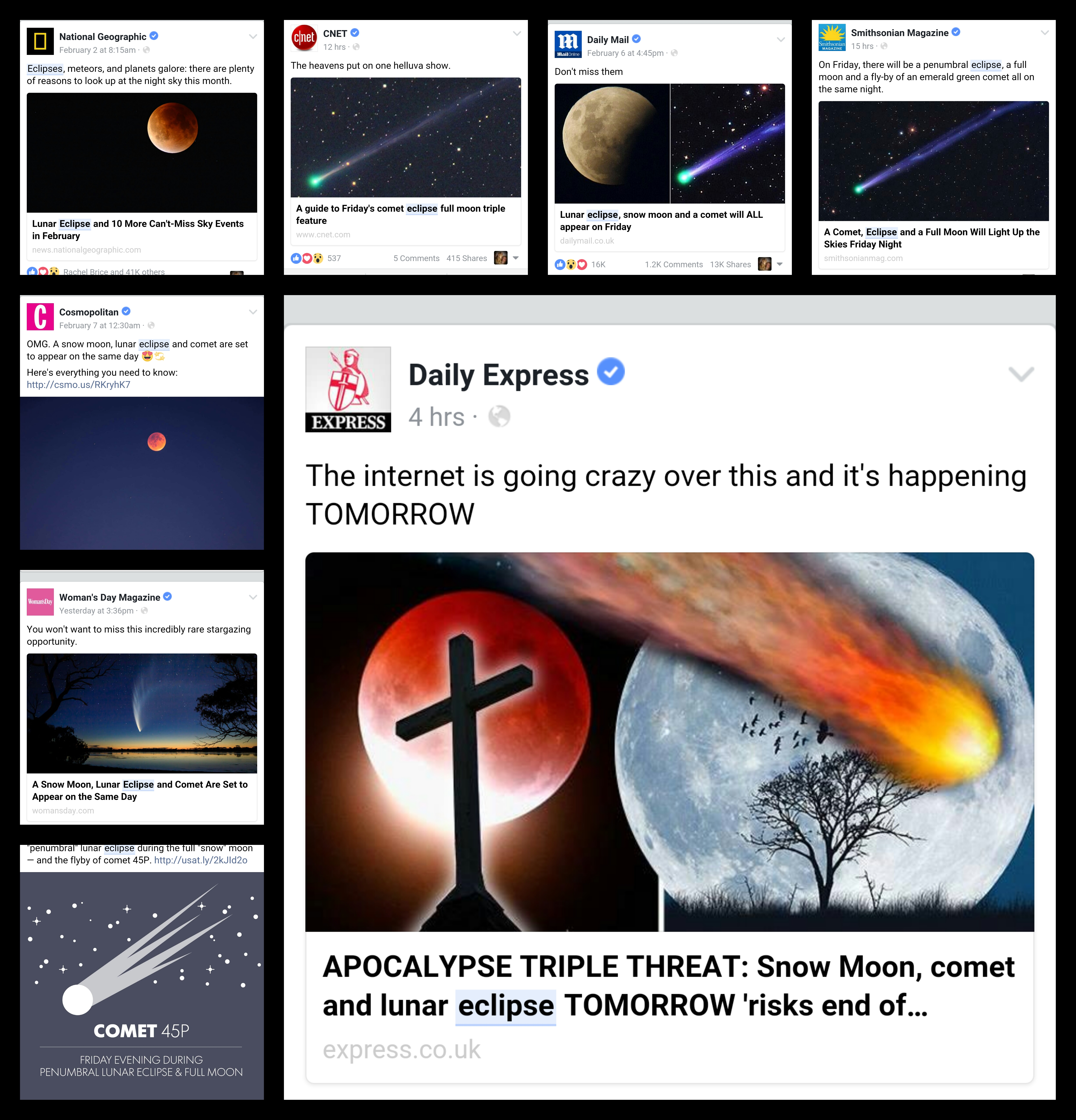 Full moon eclipse and a comet reality check time cumbrian sky photos and diagrams but the worst are actually linking them all together to make some kind of perfect storm of celestial omens heralding armageddon ccuart Choice Image